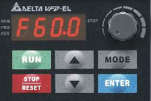 Digital keypad açıklaması 1 2 3 4 5 6 7 1 2 3 4 Status Display Display the driver's current status. LED Display Indicates frequency, voltage, current, user defined units and etc.