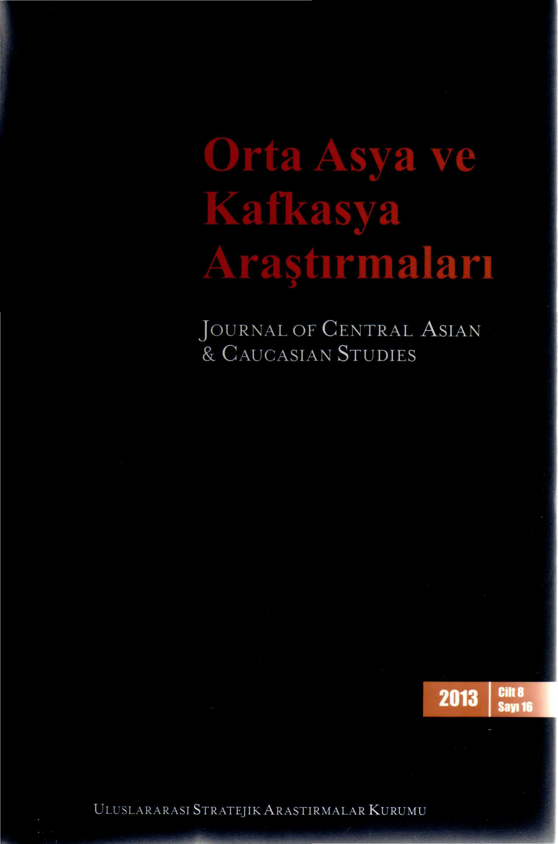 Orta Asya ve Kafkasya â up JOURNAL OF CENTRAL ASIAN &