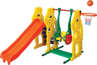 Produkt Name : Elephant swing & slide set ) PLSO07PLS66 H: 6 L: 8 W: 8