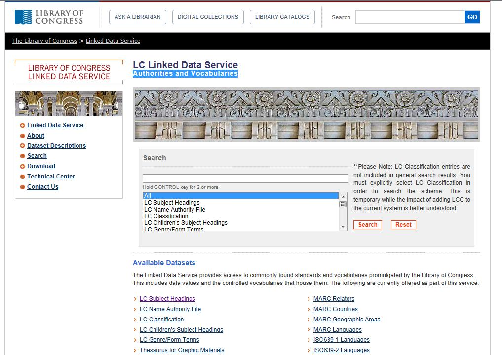 LC Linked Data Service Authorities and Vocabularies http://id.loc.
