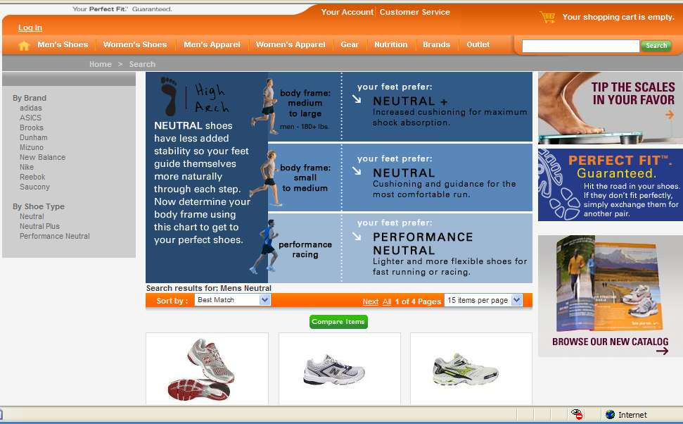 Personalized Page Road Runner Sports Best Practice Asks the questions that a sales