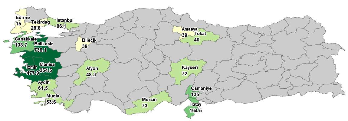 20/23 RES LİSANSLARI (10/06/2013 itibariyle) Wind Licenses