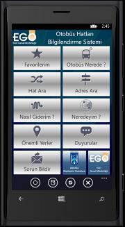 EGO CEP'te; Android, iphone (İOS) ve Windows 8 Phone olmak üzere 3 ayrı