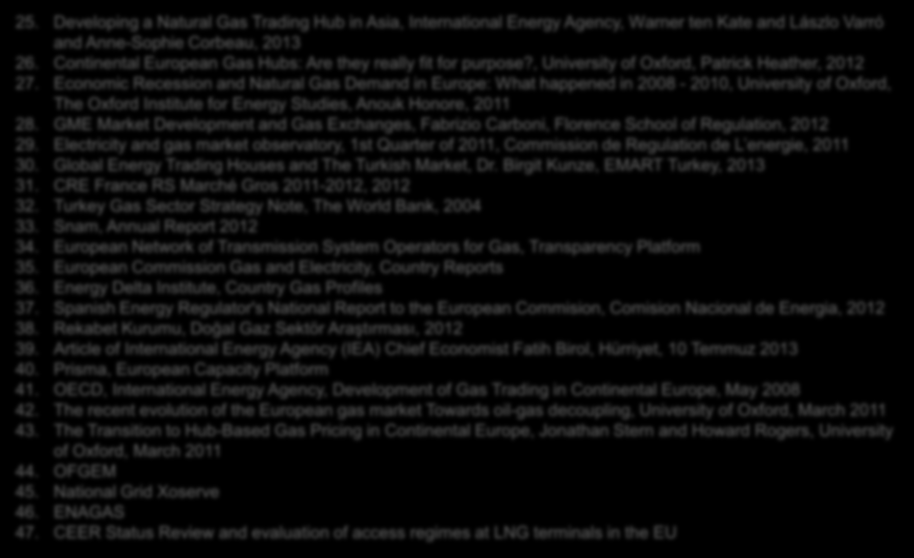 Ek: Kaynaklar 25. Developing a Natural Gas Hub in Asia, International Energy Agency, Warner ten Kate and Lászlo Varró and Anne-Sophie Corbeau, 2013 26.