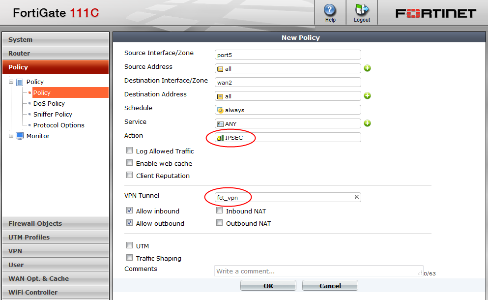 VPN in sonlanacağı interface için System > Network > DHCP Server menüsünden DHCP Server