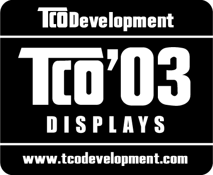 TCO Bilgisi Congratulations! The display you have just purchased carries the TCO 03 Displays label.