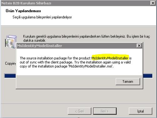 MsIdentity Error Çözüm: Kontrol Panel, Program