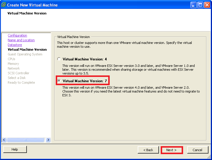 Virtual Machine Version 7