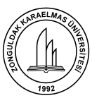 Karaelmas Fen ve Mühendislik Dergisi / Karaelmas Science and Engineering Journal 2 (1), 20-26, 2012 Karaelmas Science and Engineering Journal Journal home page: http://fbd.karaelmas.edu.