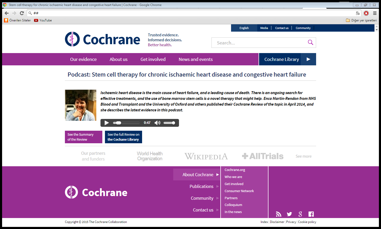 Podcast http://www.cochrane.org/podcasts/10.1002/14651858.cd007888.