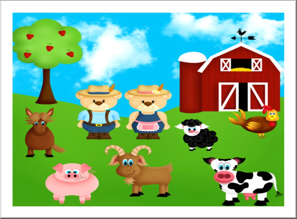 ENGLISH ACTIVITIES (5 YEARS OLD) Fun on the farm story Narrator: Katie and Danny are playing on the farm. Captain Jack is on Danny s scooter. The scooter is going quickly. Captain Jack is having fun.
