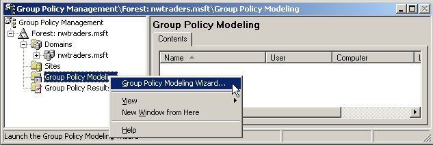 67 Group Policy Modeling (Group Policy Modelleme ) Bu eklentiden önce sistemimizdeki Group Policy Object lerini yönetmek için Active Directory Users and Computers ve Active Directory Sites and