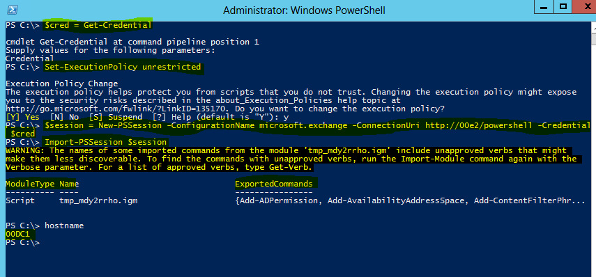 Exchange Server 2013, Powershell Remoting ve yönetimsel işlemler Exchange Server 2013 organizasyonun exchange management shell ile yönetiminden bahsetmek istiyorum.