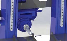 6 tool TC (option) can be used and travelling column moves along the X axe so any machining can be made.