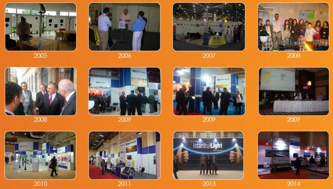 Hizmark Corporate Hizmark Kurumsal Hizmark Corporate Hizmark Kurumsal Exhibitions - Fuarlar Active in the solar energy and led lighting sector since 2004, Hizmark has attended many exhibitions and
