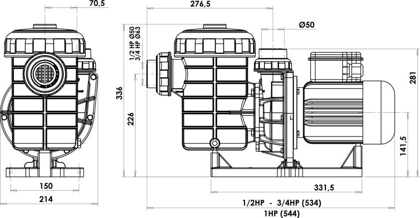 Centrifugal Pumps 2900 rpm ŞİRİN SERIES