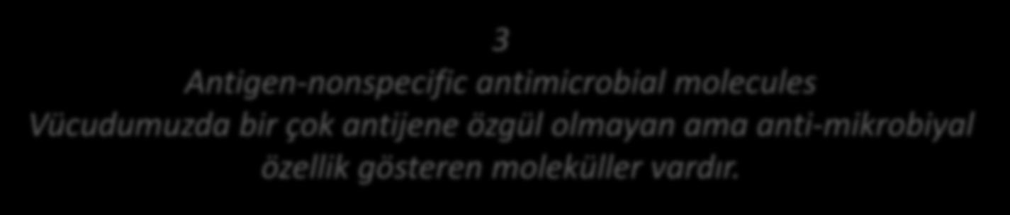 3 Antigen-nonspecific antimicrobial molecules