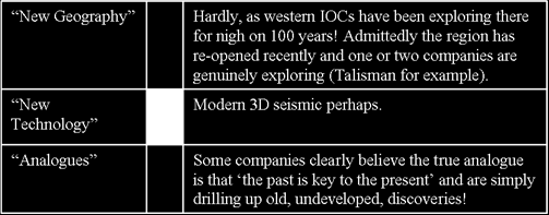 In addition, we should humbly remind ourselves that exploration for oil & gas onshore has been going on for around 150 years and that if we are going to make an argument in favour of something new,