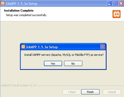 22 Xampp server i, servis