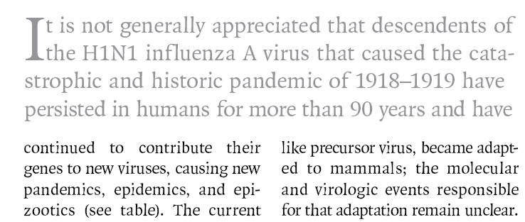 The Persistent Legacy of the 1918 Influenza Virus David M. Morens, M.D., Jeffery K.