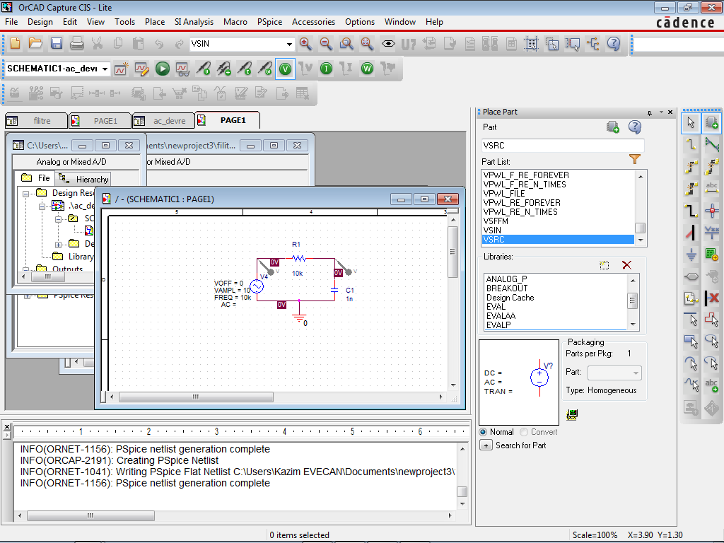 Pspice New Simulation Profile açılan pencerede Analysis Run Time