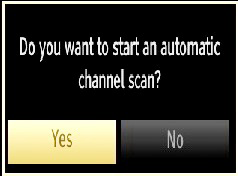 Press OK button on the remote control to continue and the following message will be displayed on the screen. NOTE: You can press MENU button to cancel.