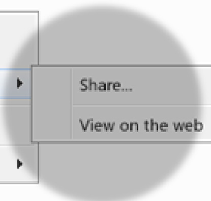 On the web Select a file or folder and click the Share button to add people and set their permissions.