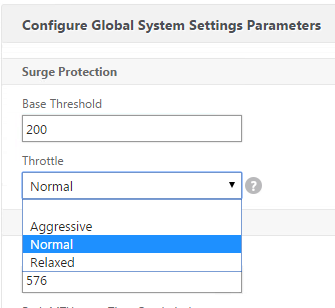 Surge Protection Global Ayarlar Netscaler GUI 1. System>Settings altında Change Global Settings i seçelim. 2.