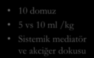 10 domuz 5 vs 10 ml /kg Sistemik