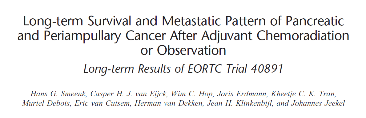 Long-term survival and metastatic pattern of pancreatic and periampullary cancer after adjuvant