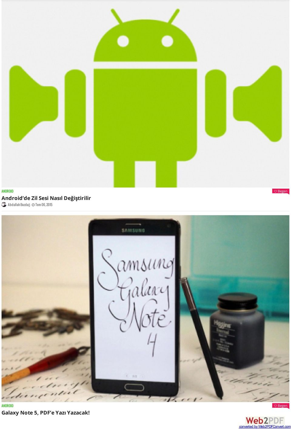Begen ANDROID Galaxy Note