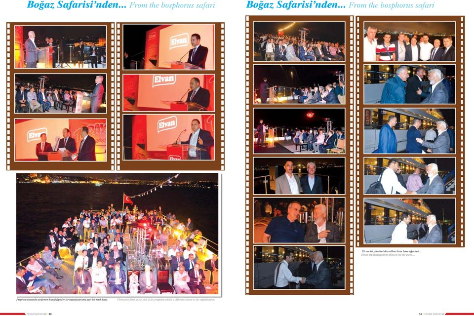 .. Elvan top management showed out the guest Program sonunda ateşlenen havai fişekler ise