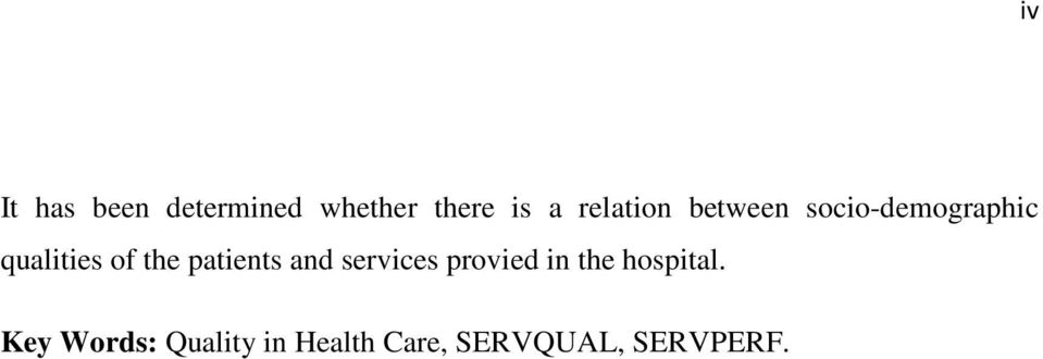 the patients and services provied in the hospital.