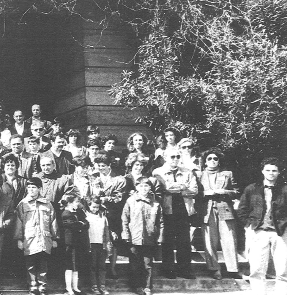 Grandfather Feridun Özgür, son Nuri Özgür and grandson Eren Özgür Present RC students with RC Mothers and Fathers, (below).