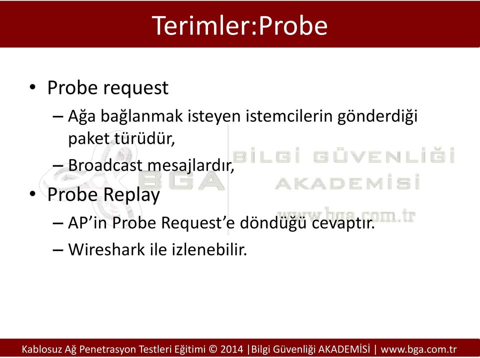 Broadcast mesajlardır, Probe Replay AP in Probe