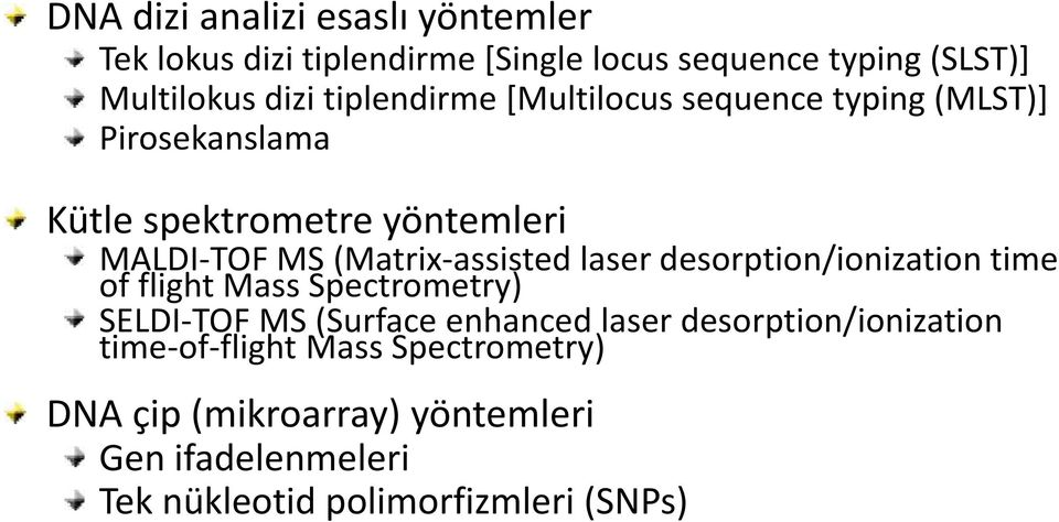 (Matrix-assisted laser desorption/ionization time of flight Mass Spectrometry) SELDI-TOF MS (Surface enhanced laser