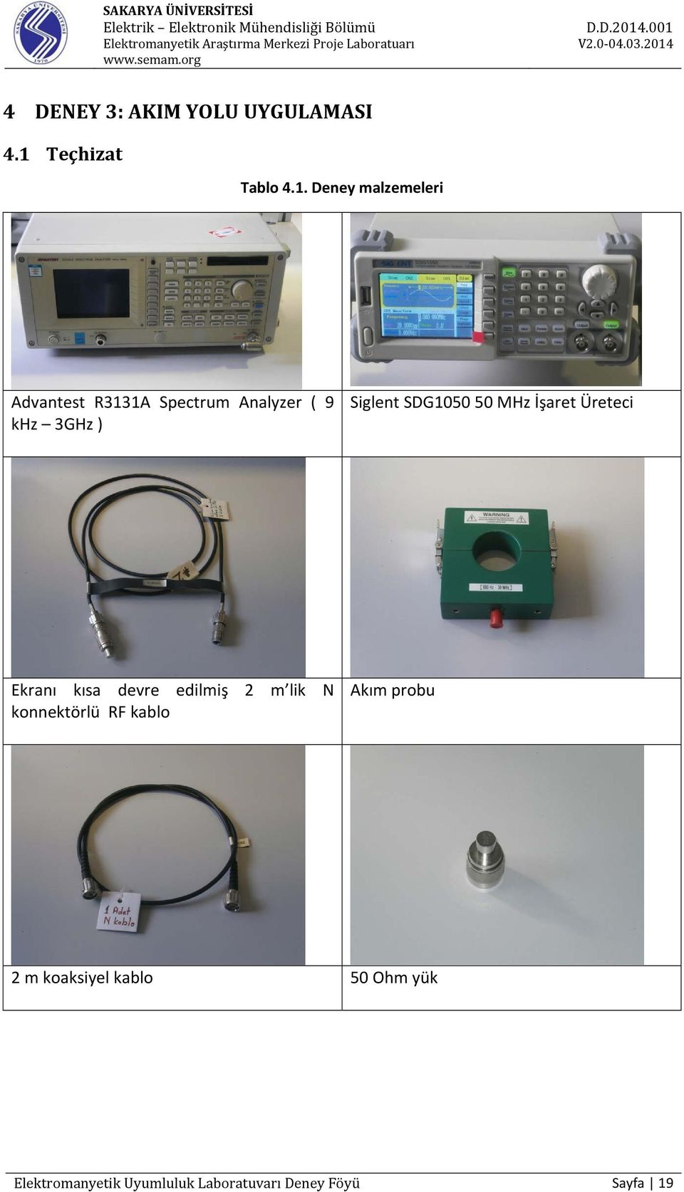 Deney malzemeleri Advantest R3131A Spectrum Analyzer ( 9 khz 3GHz ) Siglent