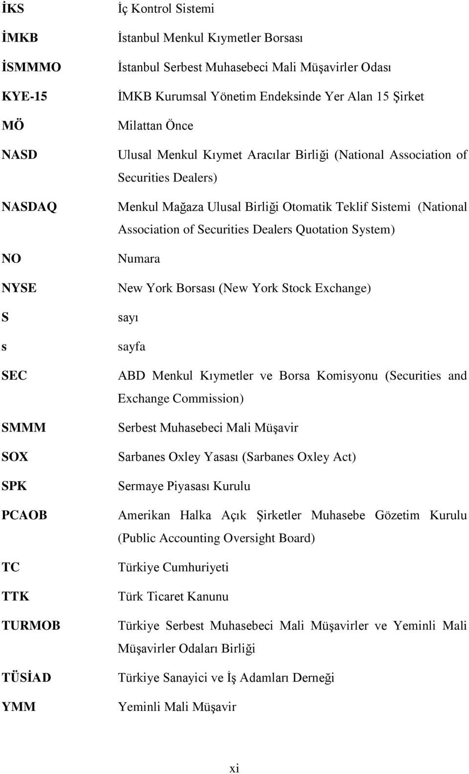 Sistemi (National Association of Securities Dealers Quotation System) Numara New York Borsası (New York Stock Exchange) sayı sayfa ABD Menkul Kıymetler ve Borsa Komisyonu (Securities and Exchange