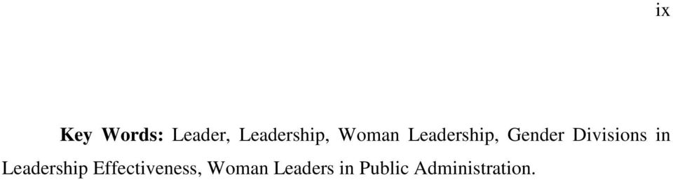 in Leadership Effectiveness, Woman