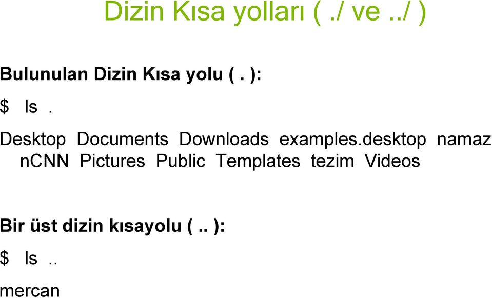 Desktop Documents Downloads examples.