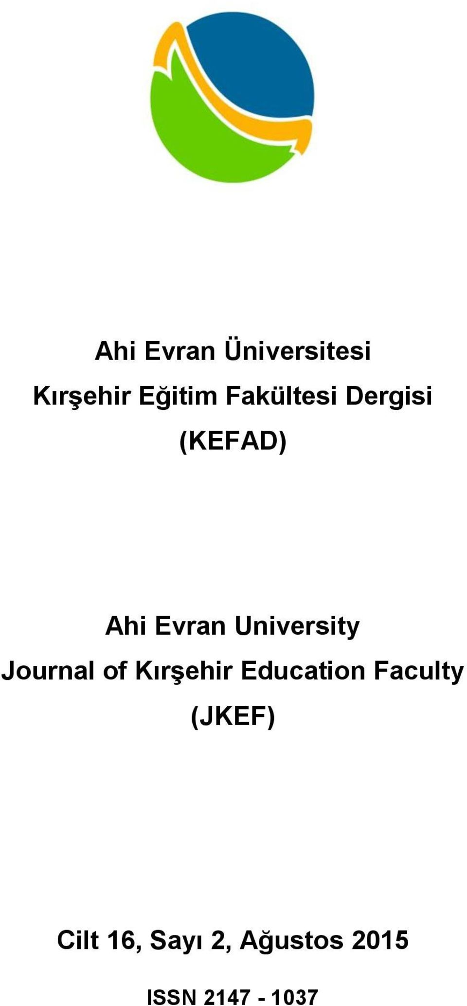 of Kırşehir Education Faculty (JKEF)