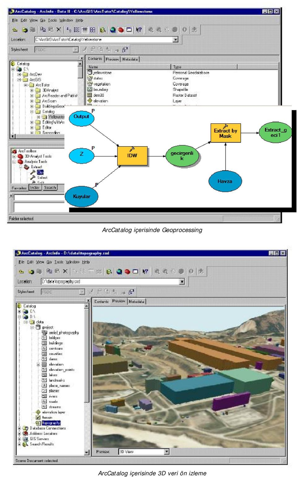 Geoprocessing   3D