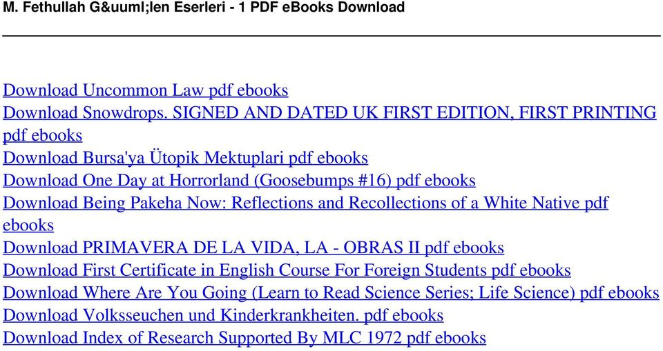 Being Pakeha Now: Reflections and Recollections of a White Native pdf ebooks Download PRIMAVERA DE LA VIDA, LA - OBRAS II pdf ebooks Download First Certificate in English Course