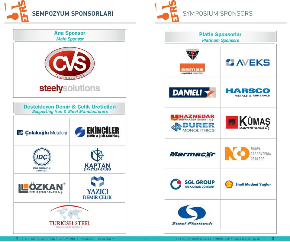 & Çelik Üreticileri Supporting Iron & Steel Manufacturers 2 5.