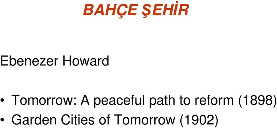 peaceful path to reform