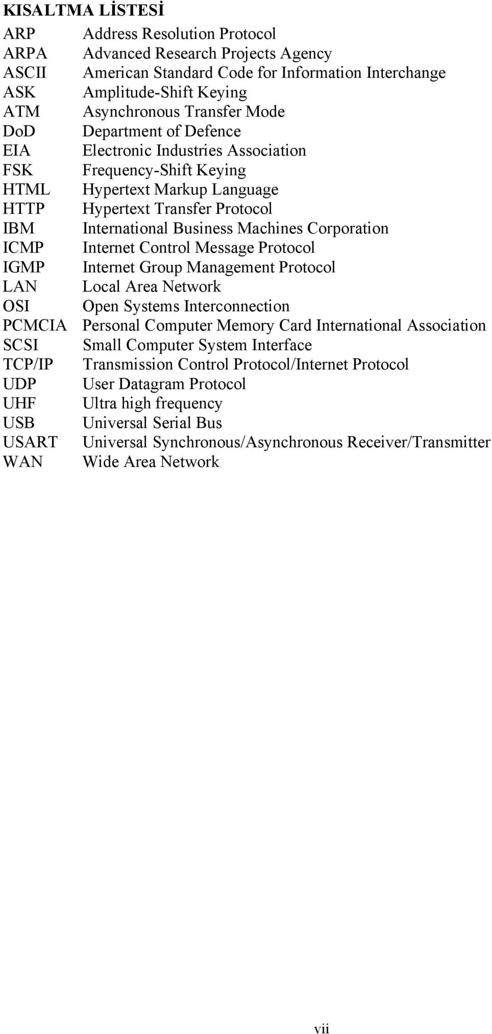 Corporation ICMP Internet Control Message Protocol IGMP Internet Group Management Protocol LAN Local Area Network OSI Open Systems Interconnection PCMCIA Personal Computer Memory Card International