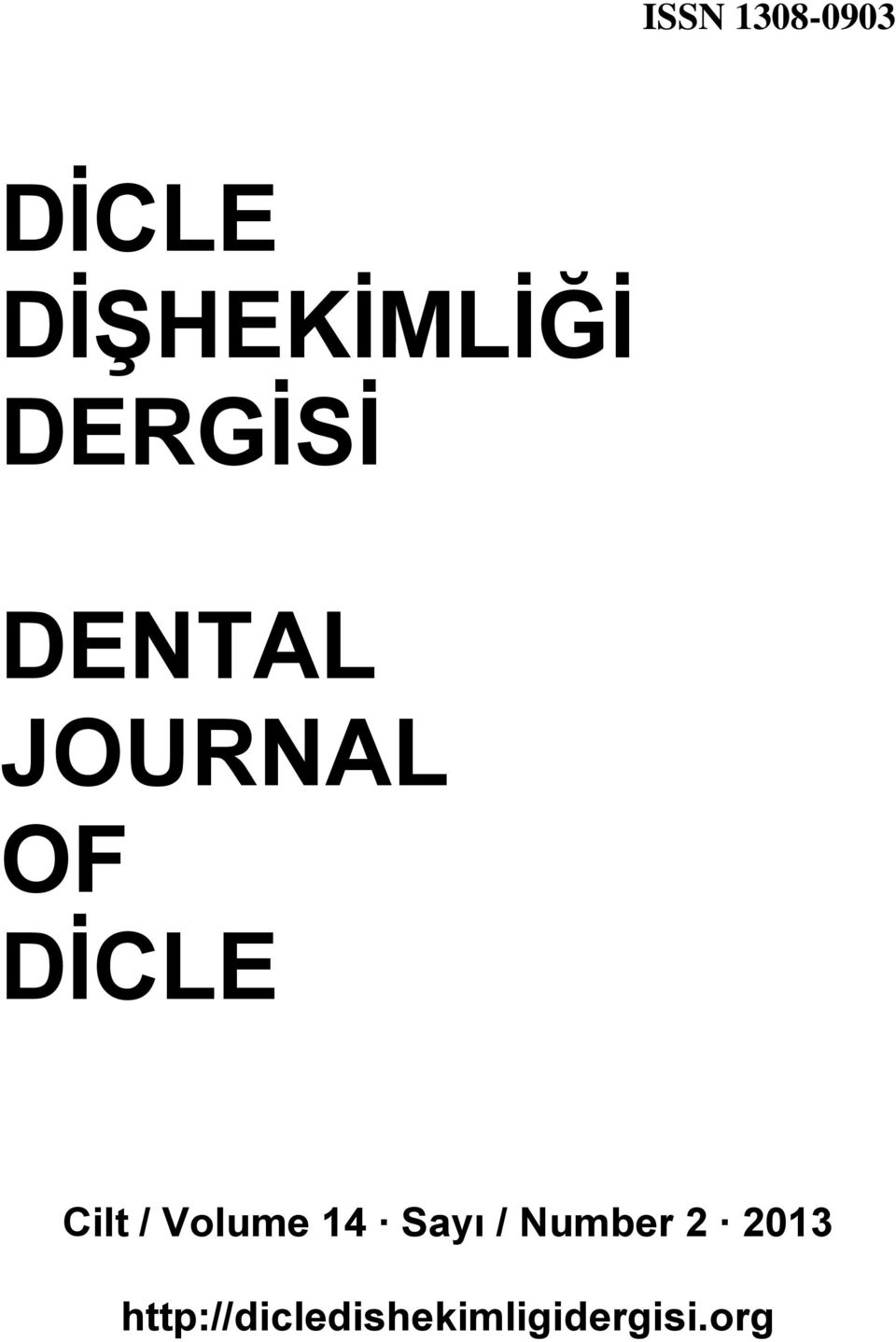 JOURNAL OF DİCLE
