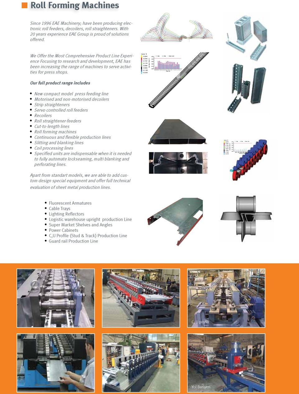 Our full product range includes New compact model press feeding line Motorised and non-motorised decoilers Strip straighteners Servo controlled roll feeders Recoilers Roll straightener-feeders