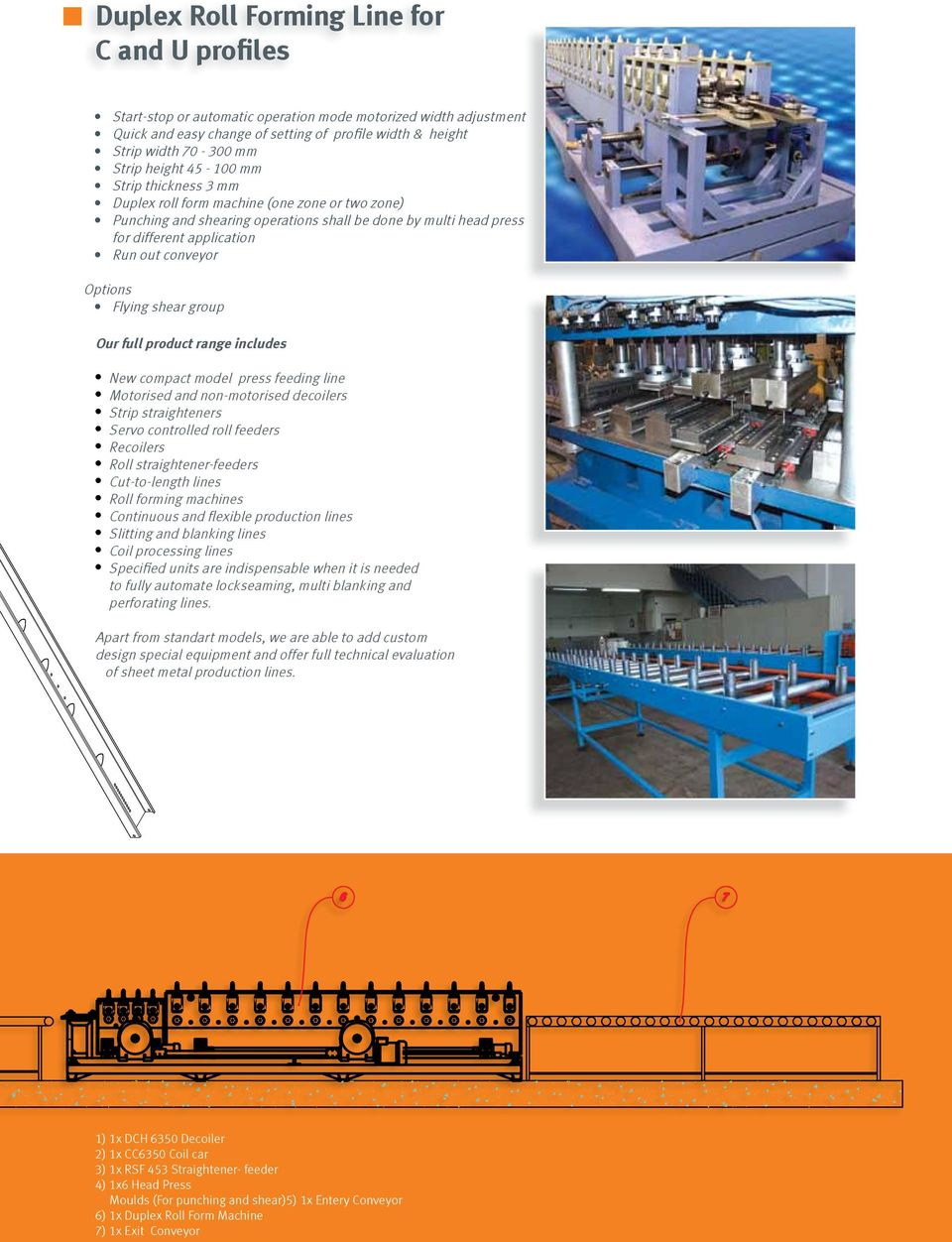 shearing operations shall be done by six multi head press head for different pres in different application areas Run uot out conveyor Options: Shearing Flying shear Group group Our full product range