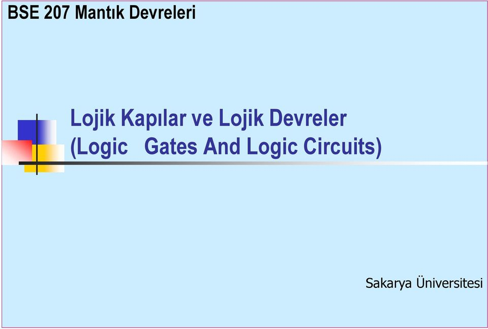 Devreler (Logic Gates nd